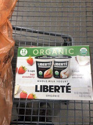 Organic whole milk yogurt