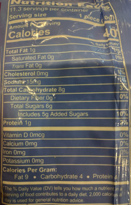 peanut butter bones - Voedingswaarden