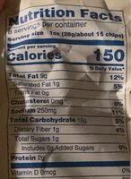 Salt & Vinegar Chips - Nutrition facts - en
