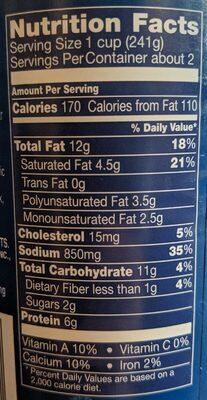 Progresso Traditional Broccoli Cheese Soup - Nutrition facts - en