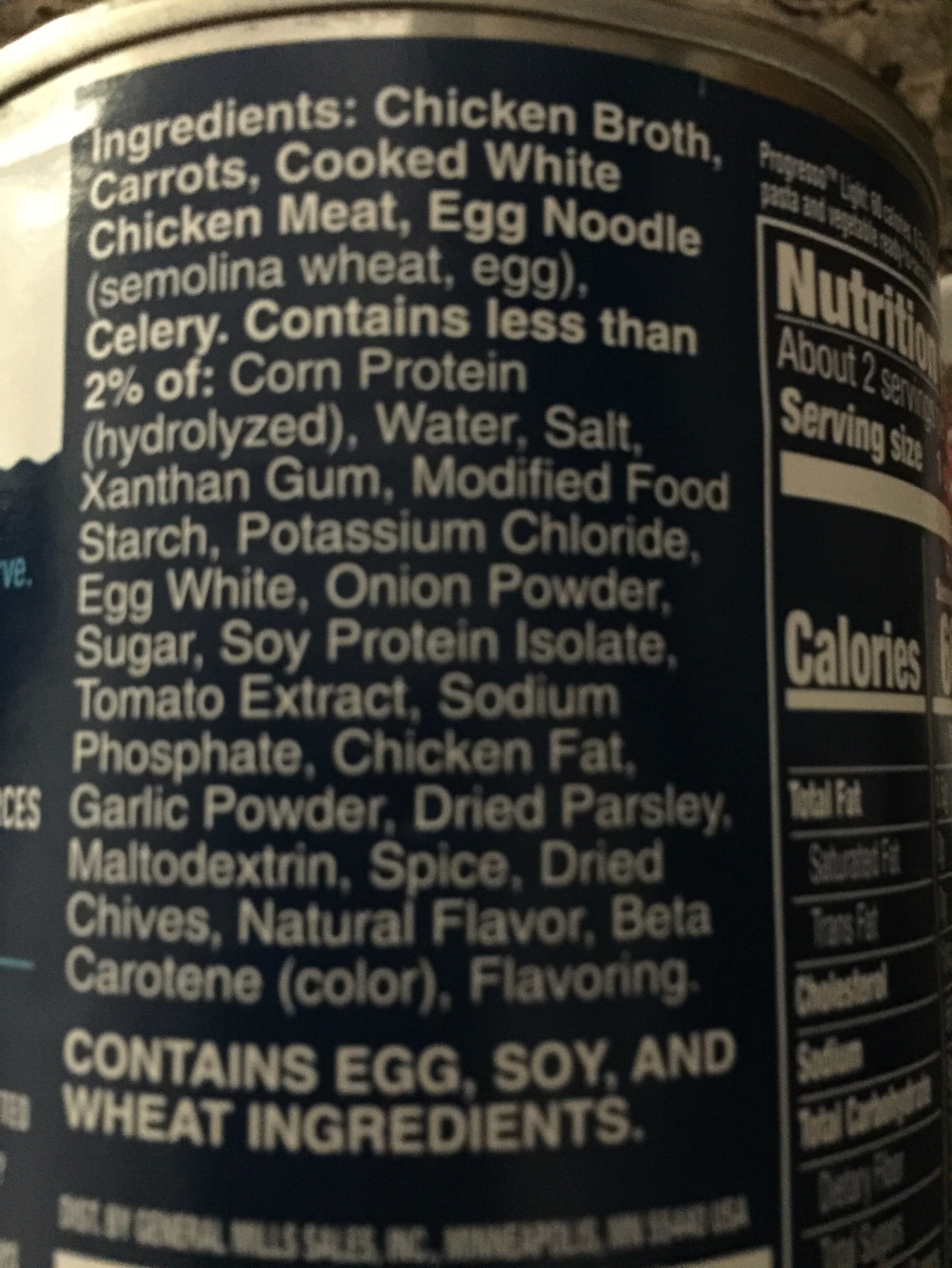 Chicken noodle - Ingredienti - en