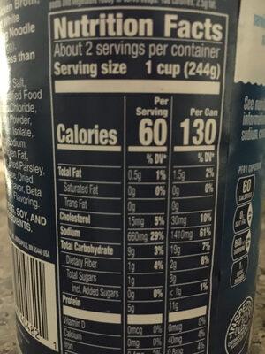 Chicken noodle - Valori nutrizionali - en