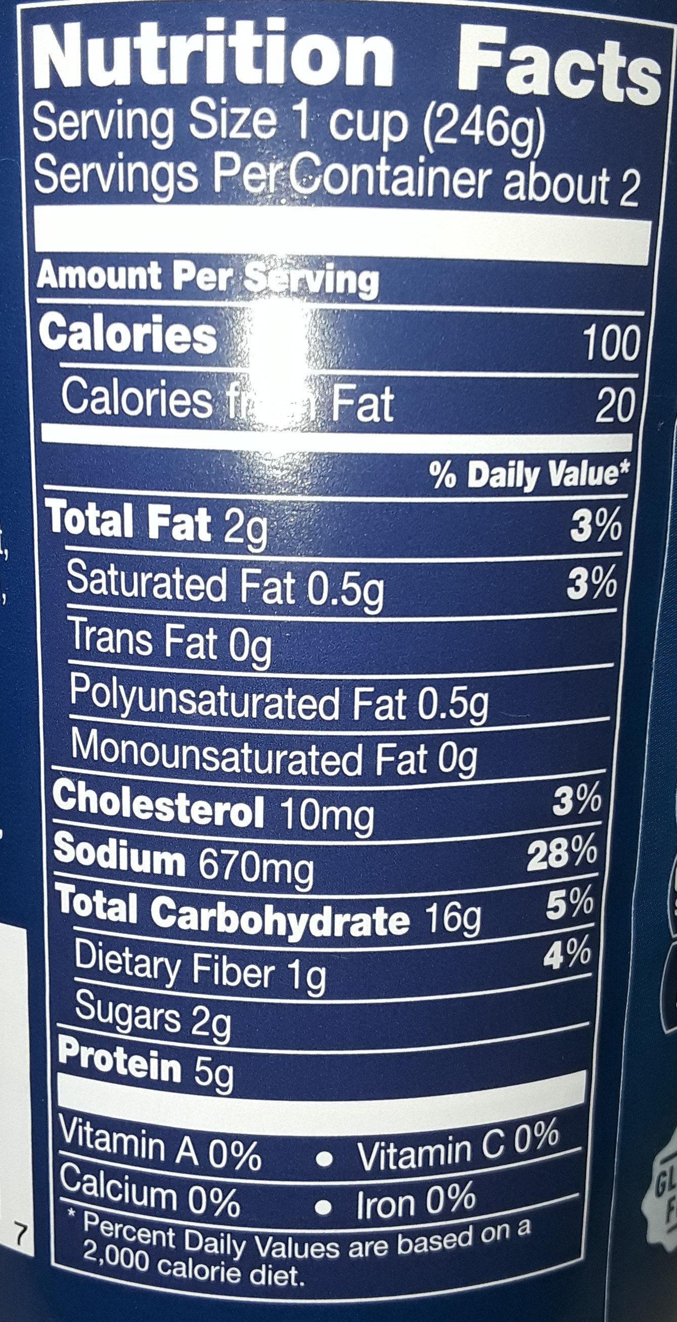 Progresso Light Chicken Corn Chowder - Voedingswaarden - en