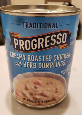Progresso Traditional Creamy Roasted Chicken with Herb Dumplings Soup - Product - en