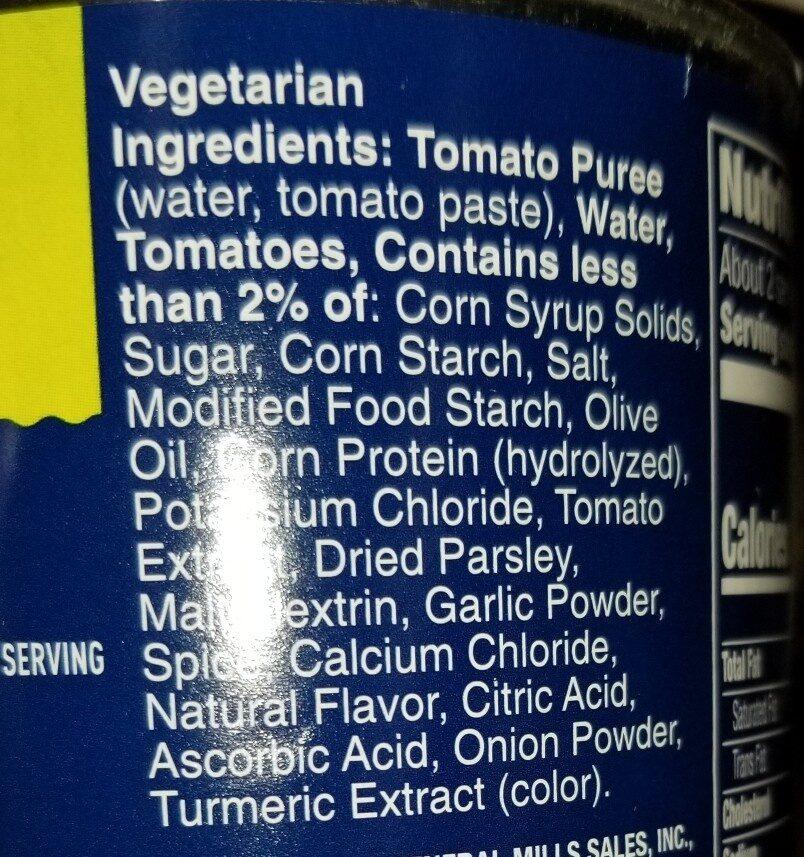 Progresso Vegetable Classics Hearty Tomato Soup - Ingredients - en