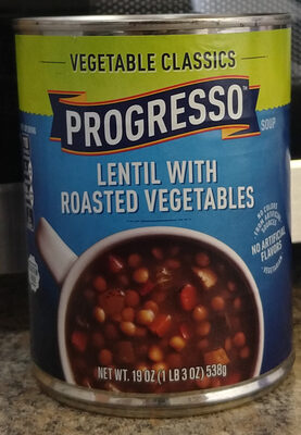 Progresso Vegetable Classics Lentil with Roasted Vegetables Soup - Product - en