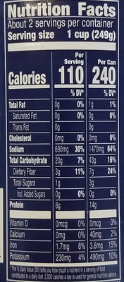 Progresso Vegetable Classics Lentil with Roasted Vegetables Soup - Nutrition facts - en