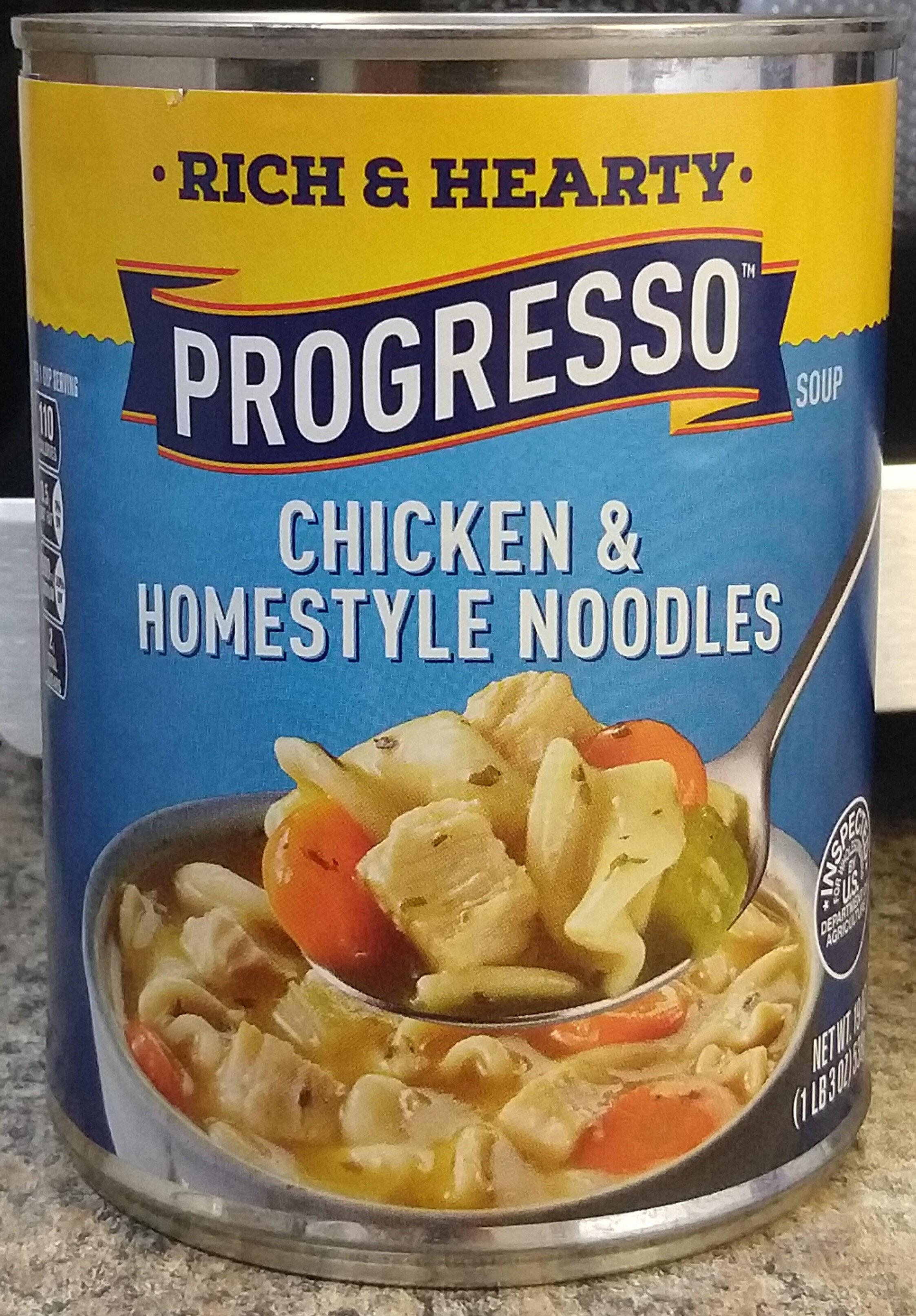 Progresso Rich & Hearty Chicken & Homestyle Noodles Soup - Product - en