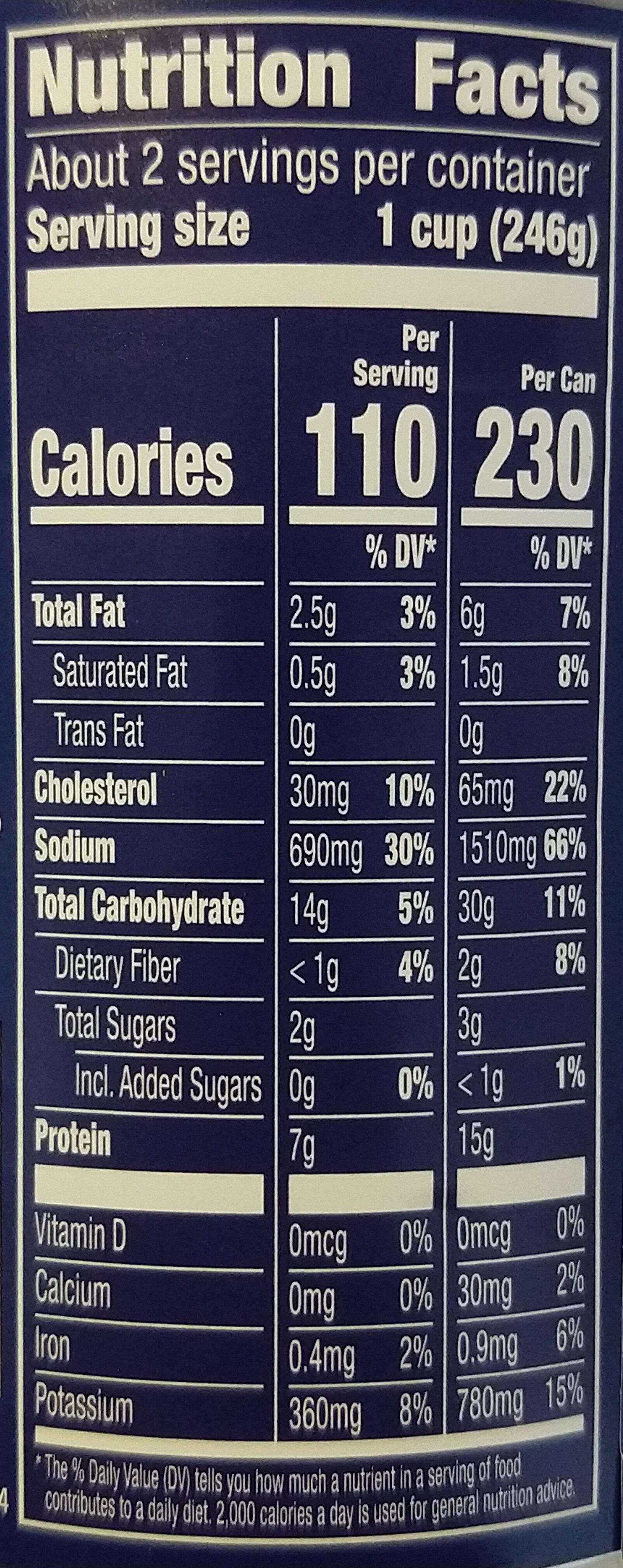 Progresso Rich & Hearty Chicken & Homestyle Noodles Soup - Nutrition facts - en