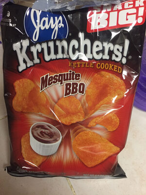 Jays, krunchers!, kettle cooked potato chips, sweet hawaiian style onion, sweet hawaiian style onion - Product - en