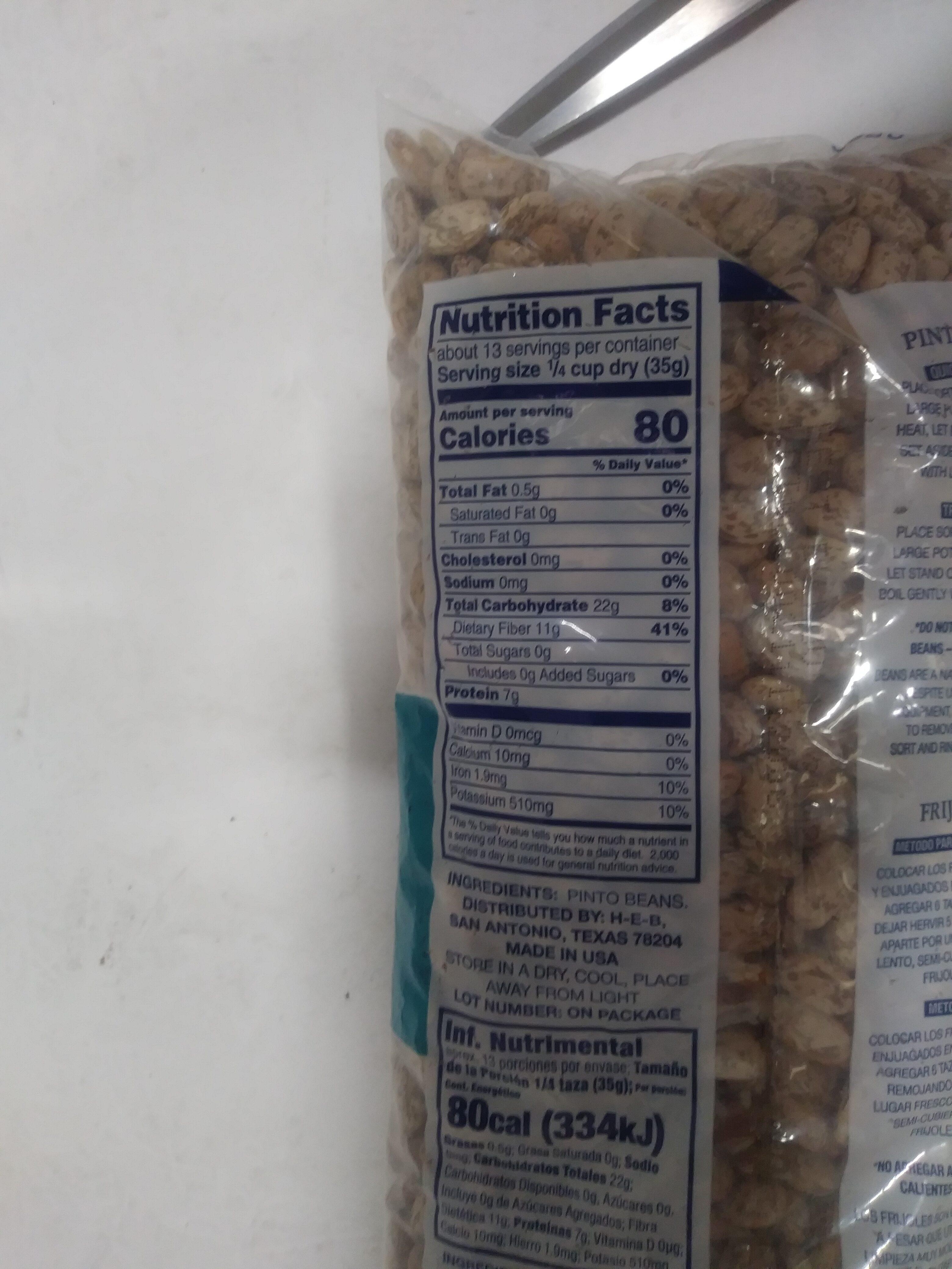 Pinto Beans - Dry - Ingredients - en