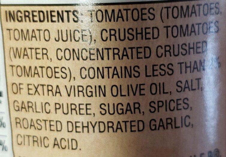 marinara pasta sauce - 成分 - en
