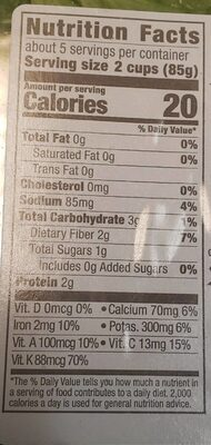 Baby spring mix - Nutrition facts - en