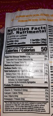 Mi Tienda - Nutrition facts