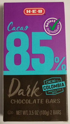 HEB 85% Dark Chocolate Bars - Product