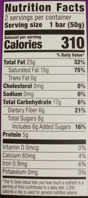 HEB 85% Dark Chocolate Bars - Nutrition facts