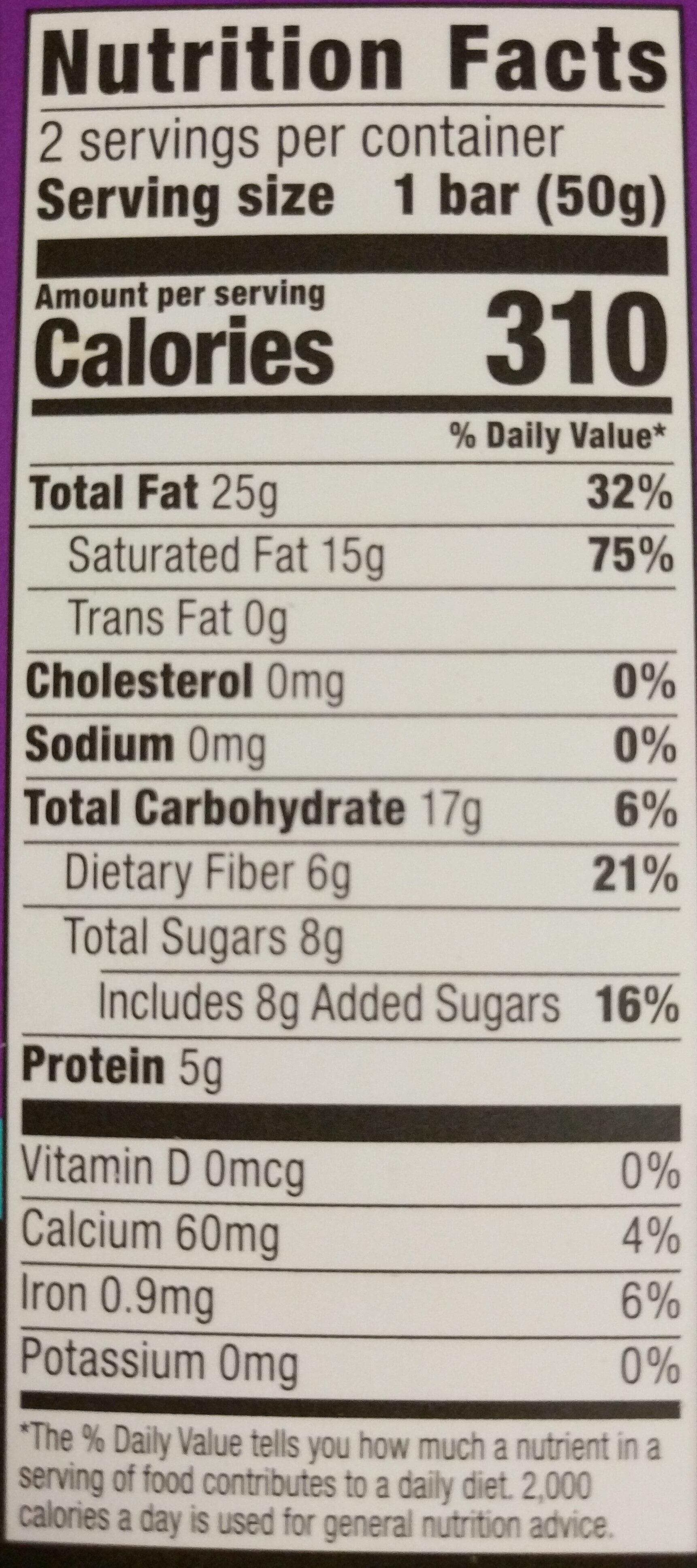 HEB 85% Dark Chocolate Bars - Nutrition facts - en