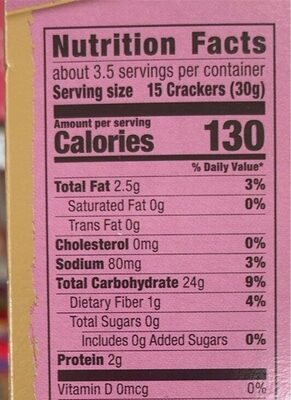 Rice crackers - Nutrition facts - en