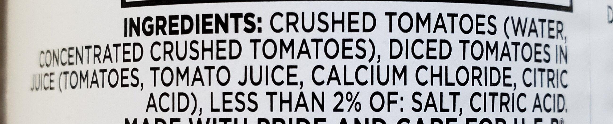 HEB Crushed Tomatoes - Ingredients - en