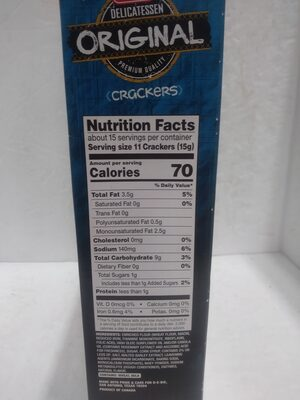 Delicatessen original Crackers - Ingredienti - en