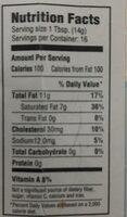 Kates butter  100% butter - Nutrition facts - en