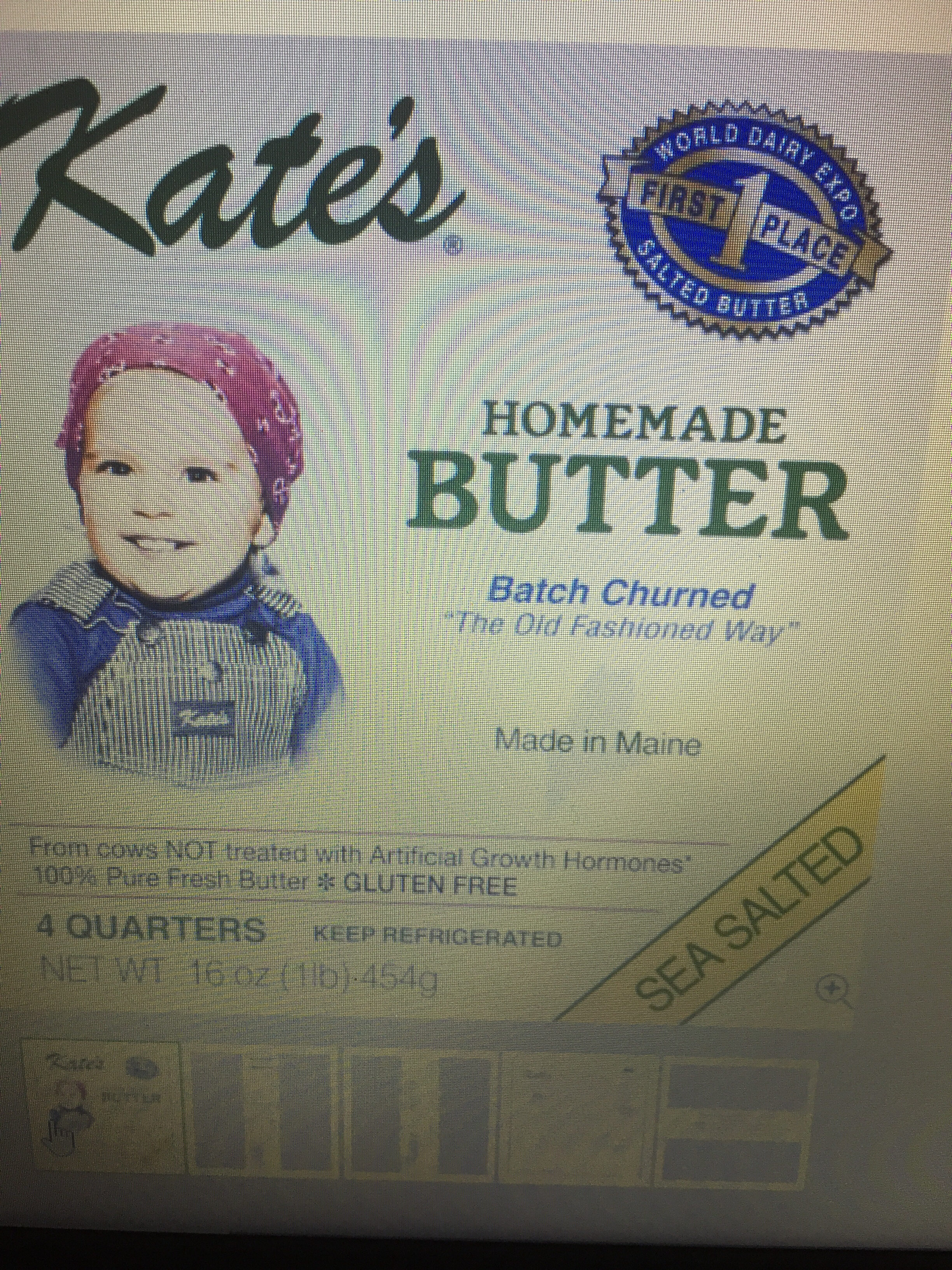 Kate's creamery, 100% pure butter - Product - en