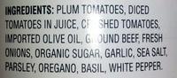 Bolognese Authentic Italian Pasta Sauce - Ingredients