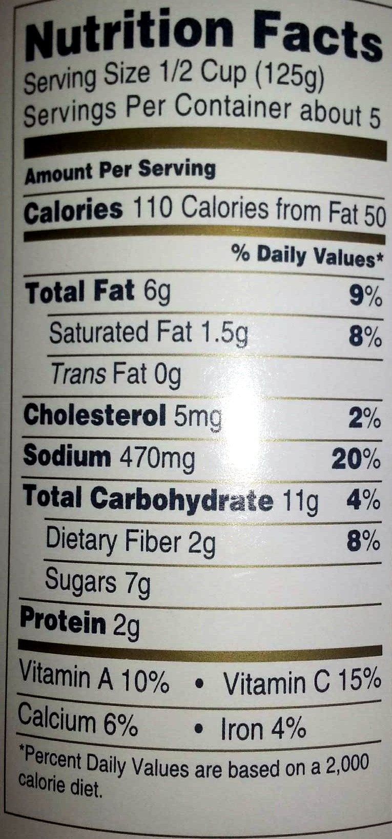 Bolognese Authentic Italian Pasta Sauce - Nutrition facts