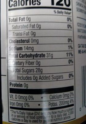 Sparkling applegrape juice - Voedingswaarden - en