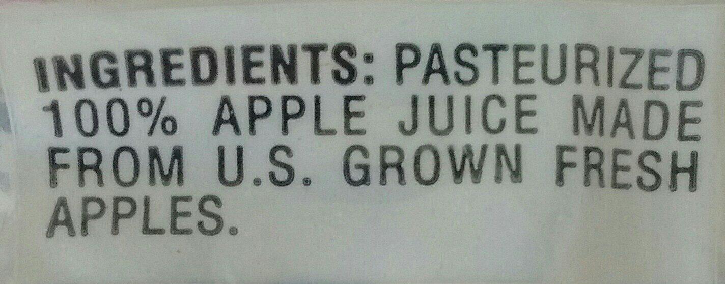 Martinelli's, 100% apple juice - Ingredients - en