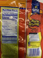 Nacho cheese flavored corn chips - Nutrition facts - en