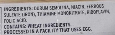 Fettuccine - Ingredients
