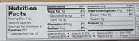 Fettuccine - Nutrition facts
