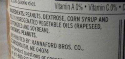 Creamy Peanut Butter - Ingredients - en