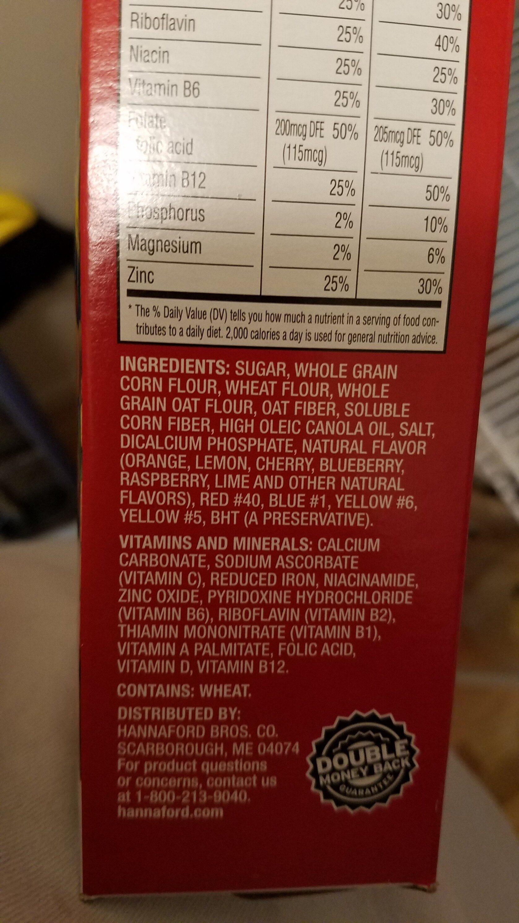 fruit rings - Ingredients - en