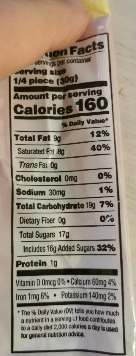 Unicorn sprinkles white chocolate flavored candy bar - Nutrition facts - en