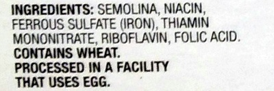 Rotini - Ingredients
