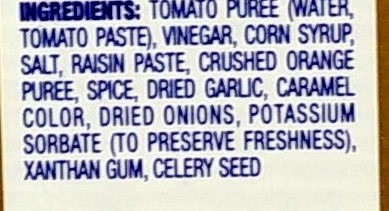 A.1. Original Sauce - Ingredients