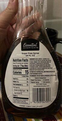 Sugar Free Syrup - Nutrition facts - en