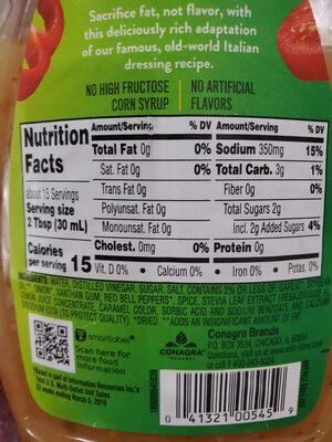 wishbone fat free Italian - Ingredients - en