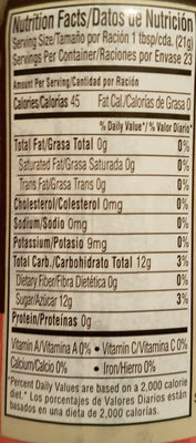 passion fruit jam - Nutrition facts