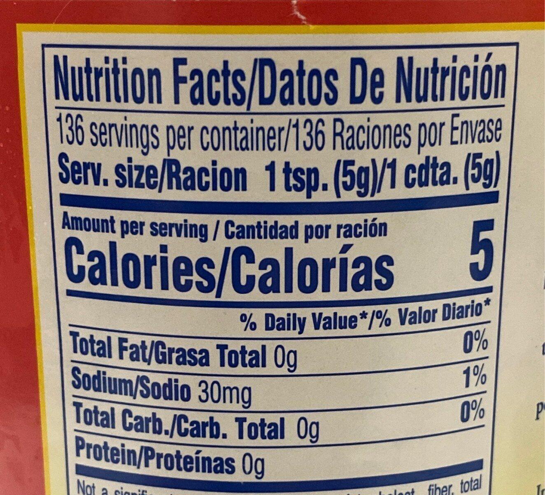 Sofrito cooking base, tomato - Nutrition facts - en
