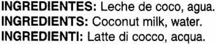 Coconut Milk - Ingredients