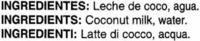 Leche de coco - Ingredientes