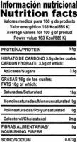 Leche de coco - Información nutricional