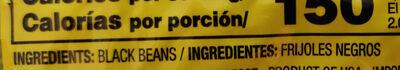 Black beans - Ingredients - en