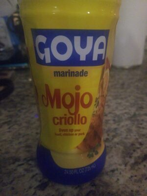 Goya Mojo criollo Marinade - Ingredients - en