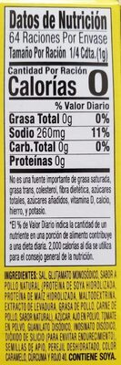 Powdered Bouillon - Nutrition facts - en