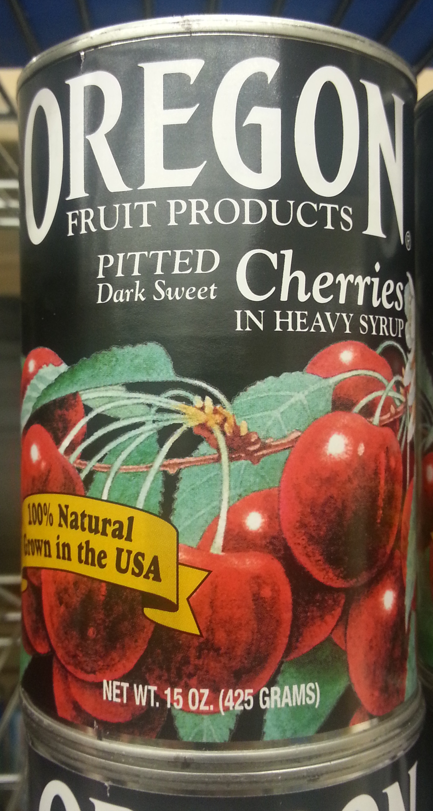 Whole pitted cherries in heavy syrup - Produit - en