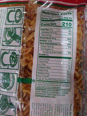 Extra Wide Egg Noodles - Nutrition facts - en